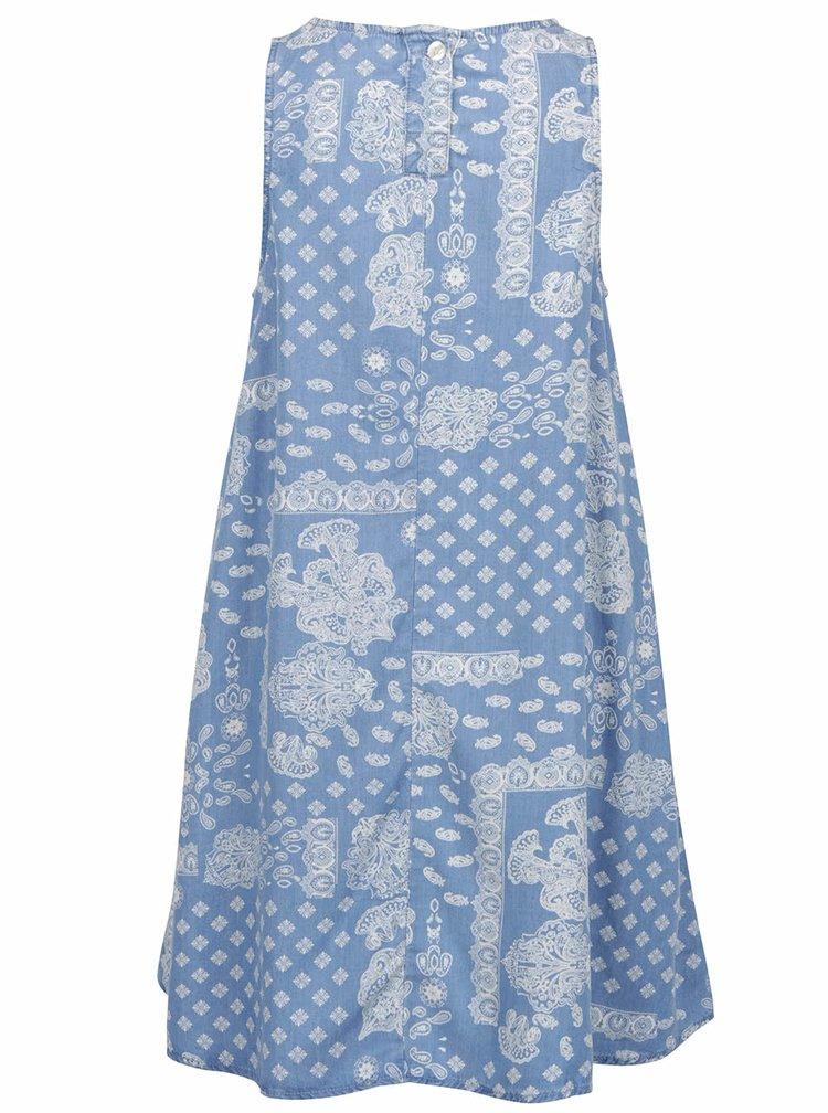 Světle modré vzorované šaty s kapsami Rich & Royal