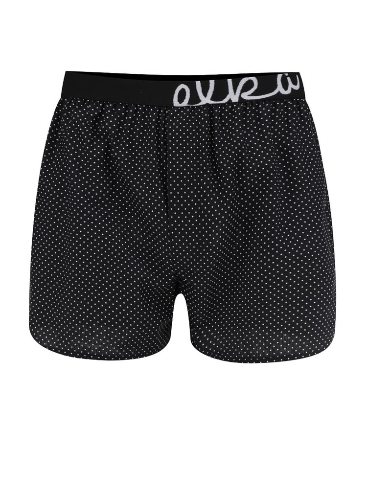 Černé pánské puntíkované trenýrky El.Ka Underwear