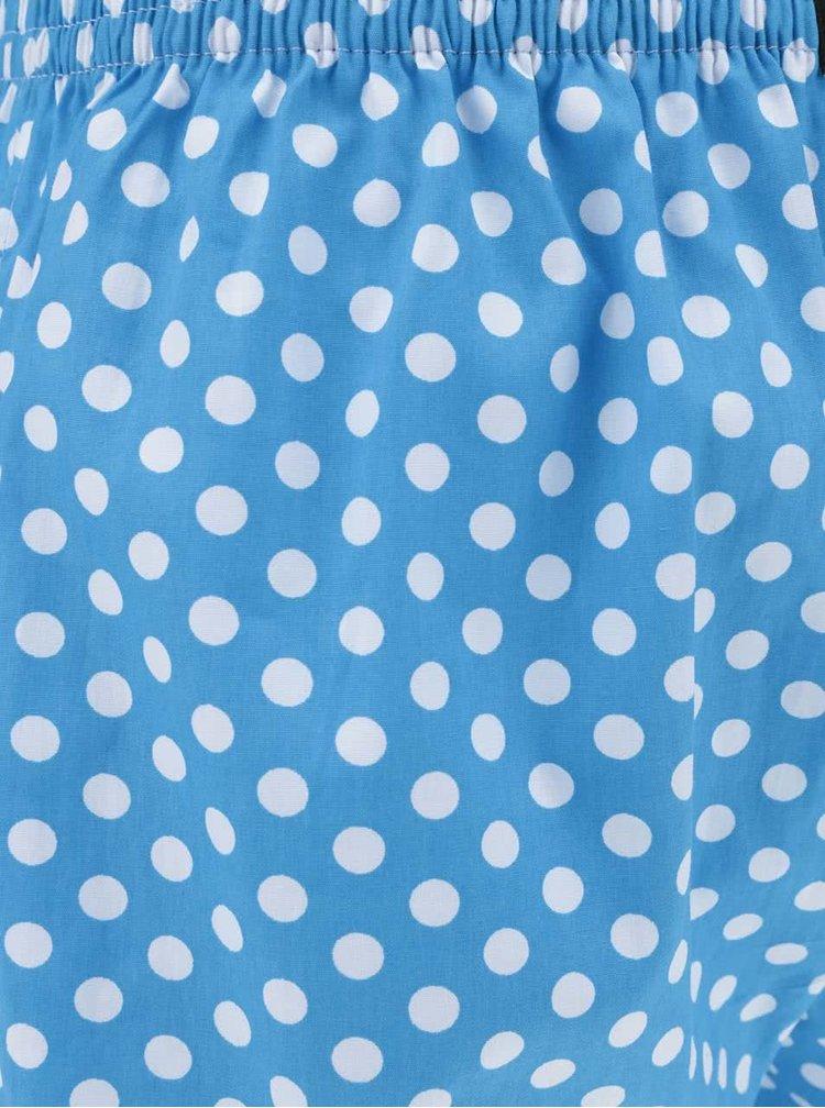 Modré pánské puntíkované trenýrky El.Ka Underwear