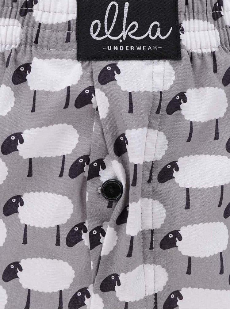 Šedé pánské trenýrky s motivem oveček El.Ka Underwear