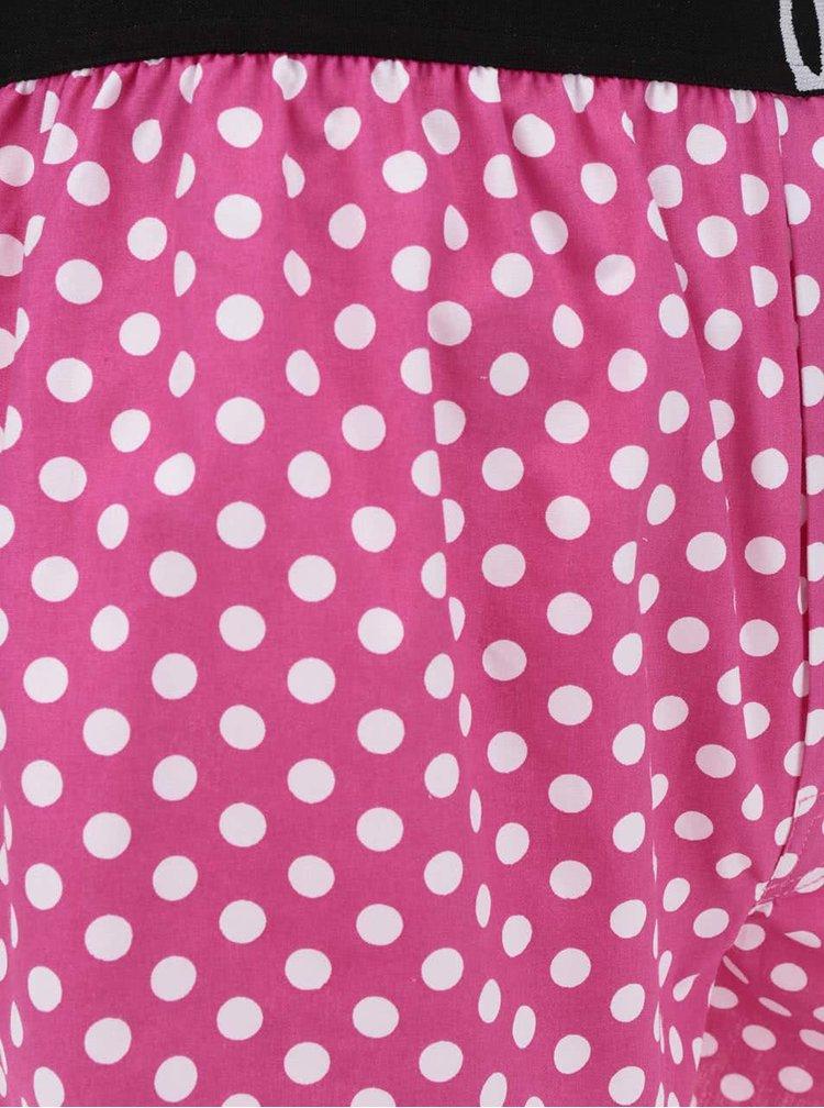 Růžové pánské puntíkované trenýrky El.Ka Underwear