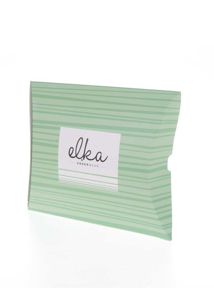 Hnědé dámské puntíkované trenýrky El.Ka Underwear