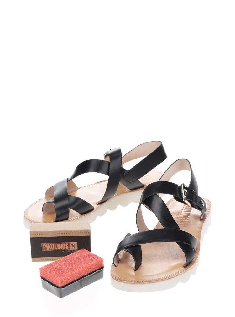 Černé kožené sandály Pikolinos Albufera