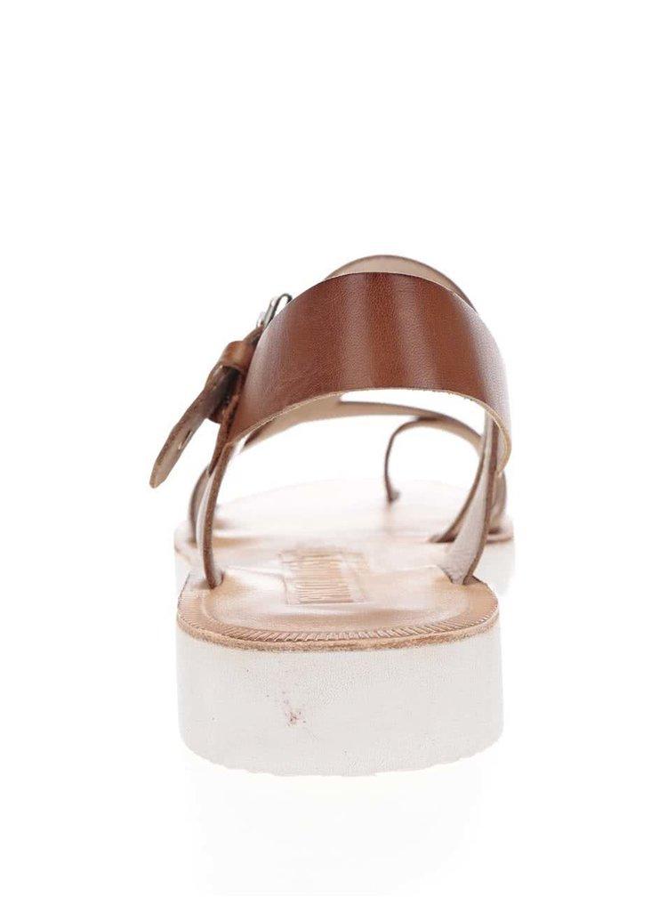 Hnědé kožené sandály Pikolinos Albufera