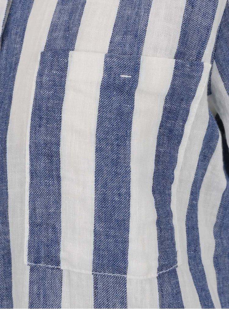 Camasa crem & albastru QS  by s. Oliver cu model in dungi