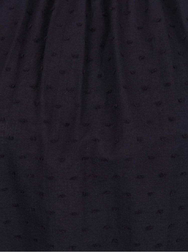 Bluză albastru închis s.Oliver din bumbac cu model discret