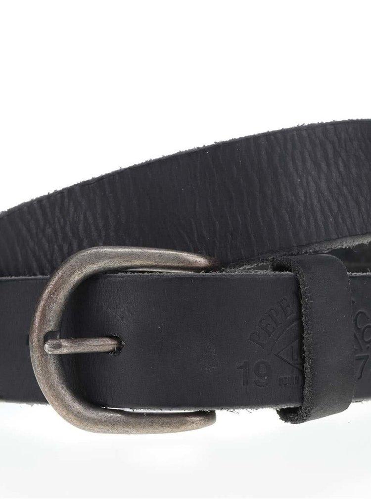 Curea neagră Pepe Jeans Balsize din piele