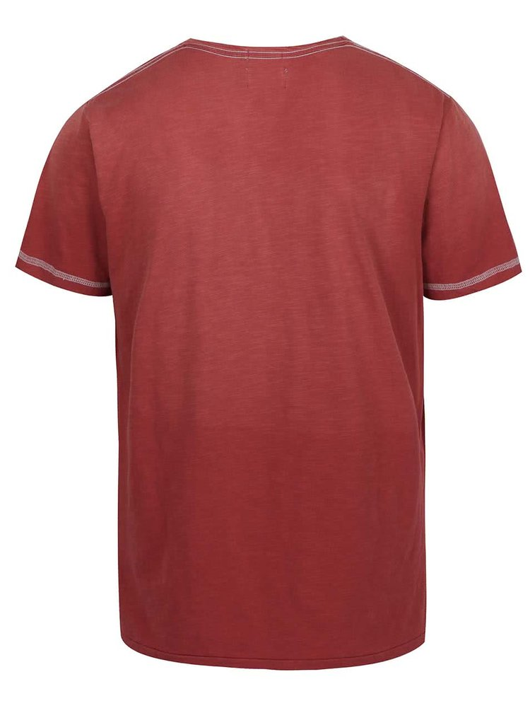 Tricou rosu Pepe Jeans Governor din bumbac