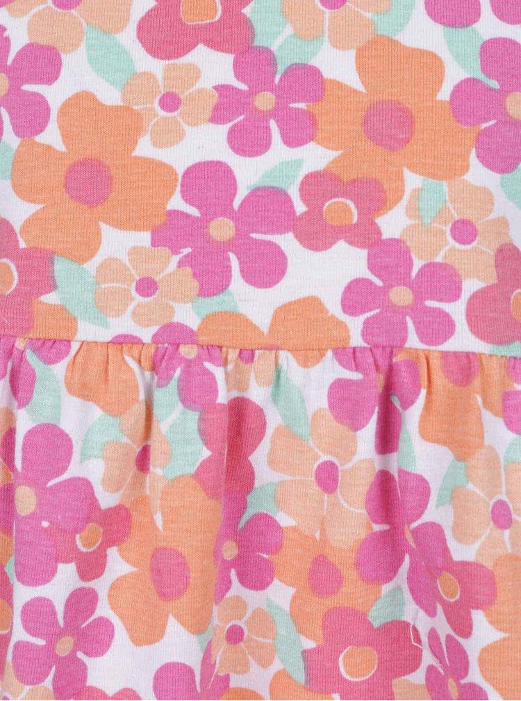 Rochie portocaliu & roz 5.10.15. cu model floral