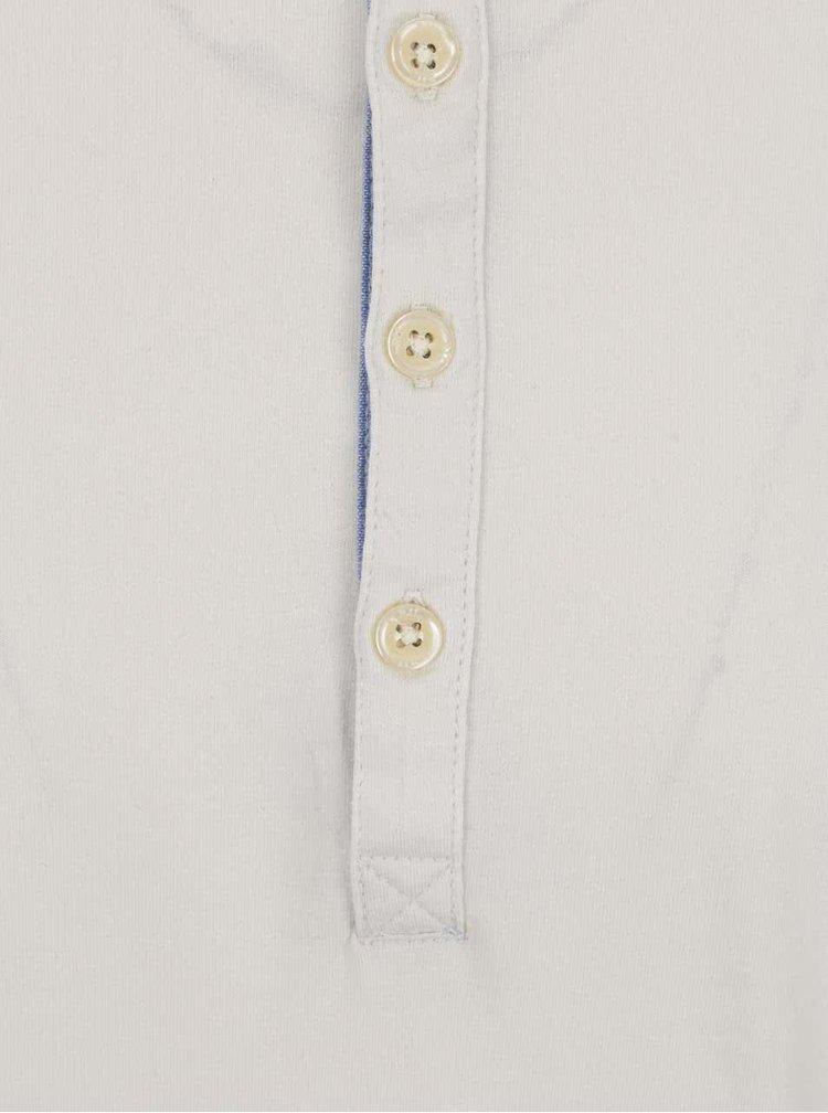Krémové pánské triko s dlouhým rukávem Pepe Jeans Bean