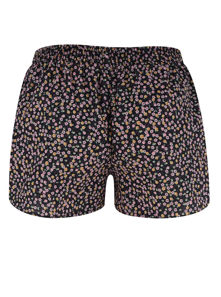 Černé dámské květované trenýrky El.Ka Underwear