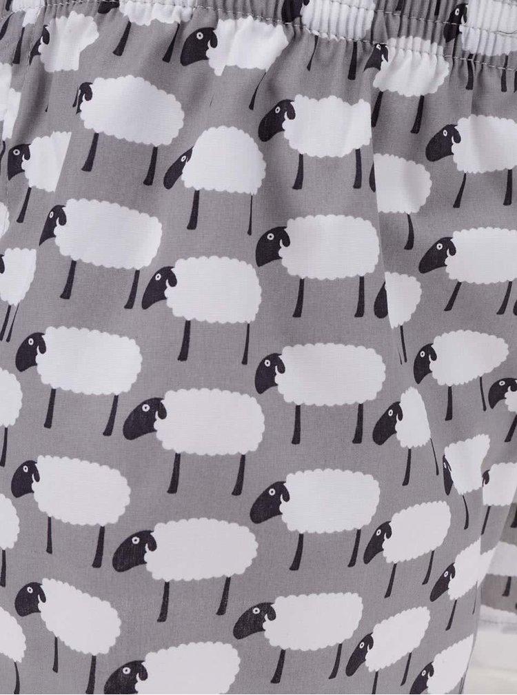 Šedé dámské trenýrky s motivem oveček El.Ka Underwear