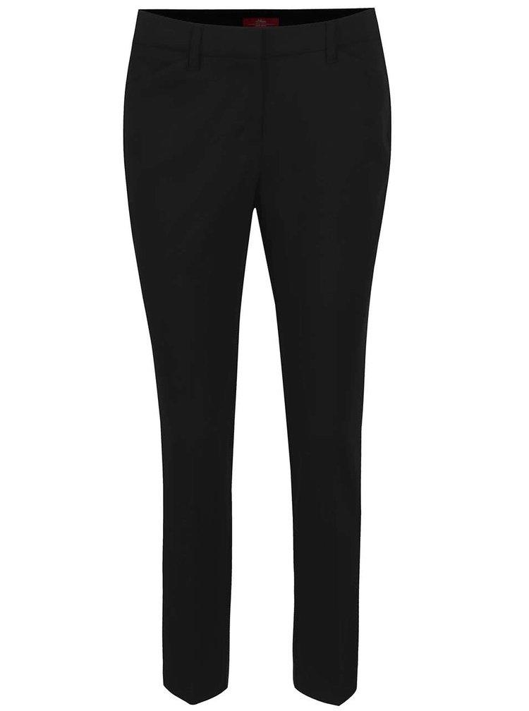 Černé dámské formální kalhoty s.Oliver