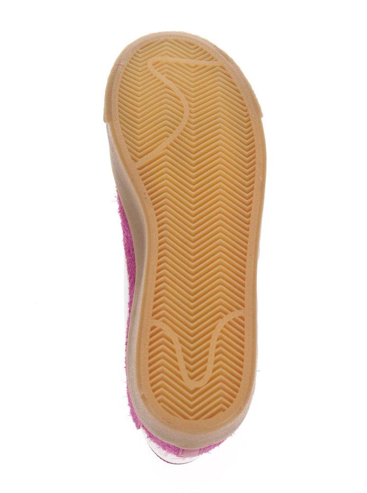 Růžové dámské kotníkové semišové tenisky Nike Blazer Mid Suede Vintage