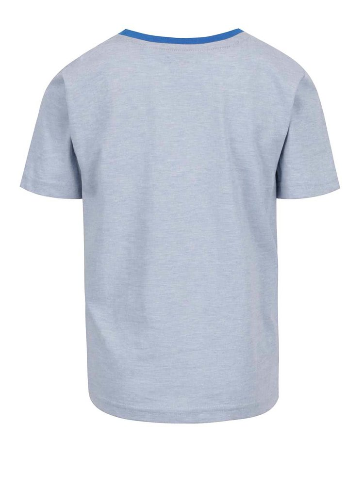 Světle modré klučičí triko s potiskem 5.10.15.