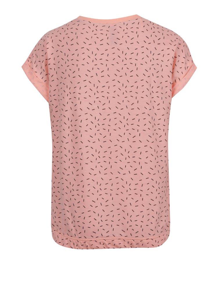 Meruňkové holčičí tričko s všitou gumou 5.10.15.