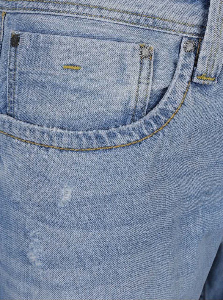Pantaloni scurți albastru deschis Pepe Jeans Cash din denim