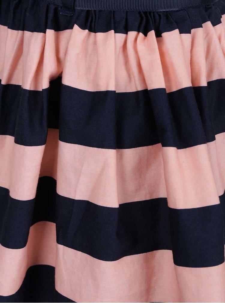 Fustă roz & bleumarin 5.10.15. cu model în dungi