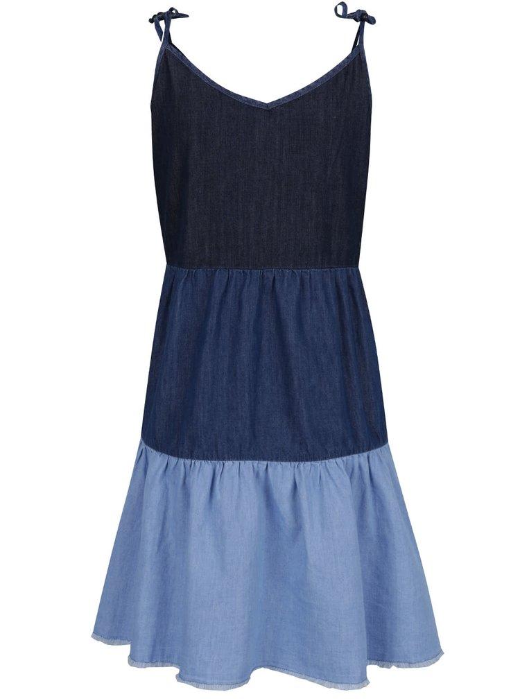 Modré džínové šaty na ramínka Pepe Jeans Sky