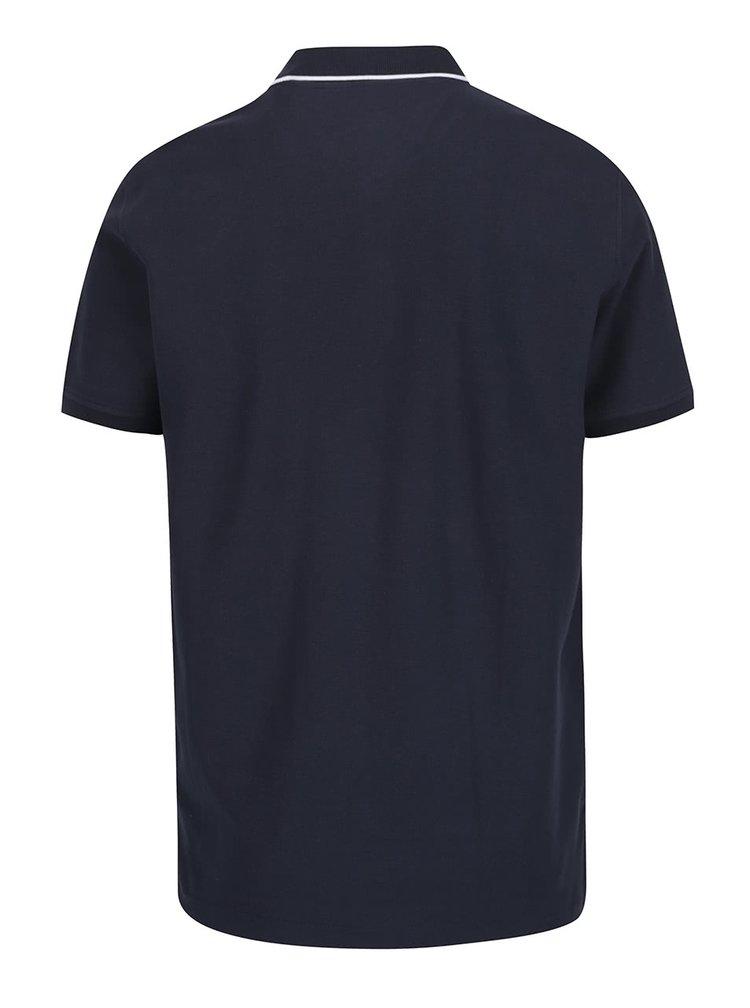 Tmavě modré polo triko s krátkým rukávem Lindbergh