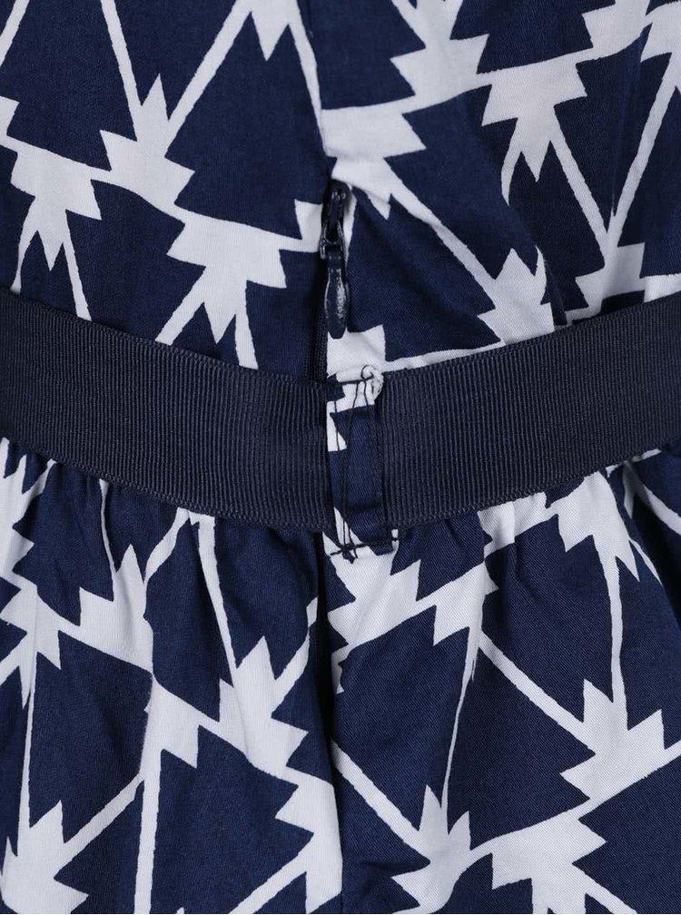 Tmavě modré holčičí vzorované šaty 5.10.15.