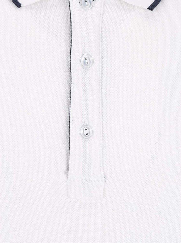 Krémové polo triko s krátkým rukávem Lindbergh