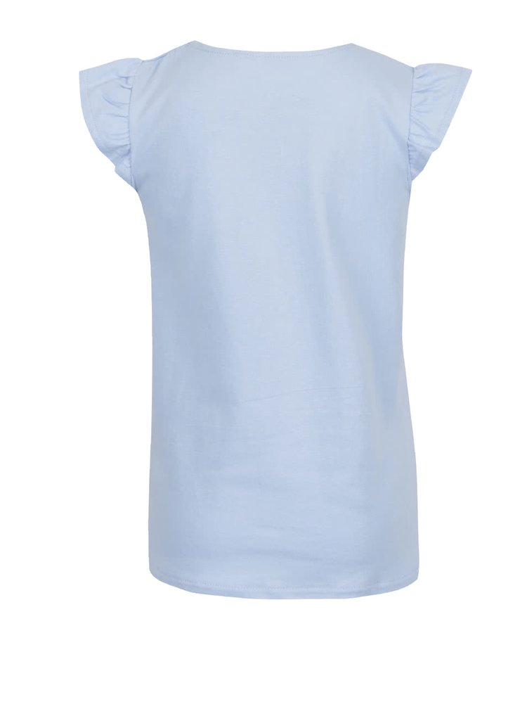 Modré holčičí tričko s aplikací 5.10.15.