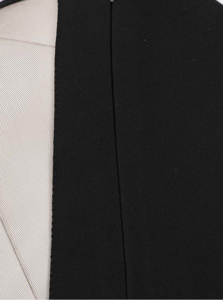 Rochie mini neagra Pulse cu croi asimetric