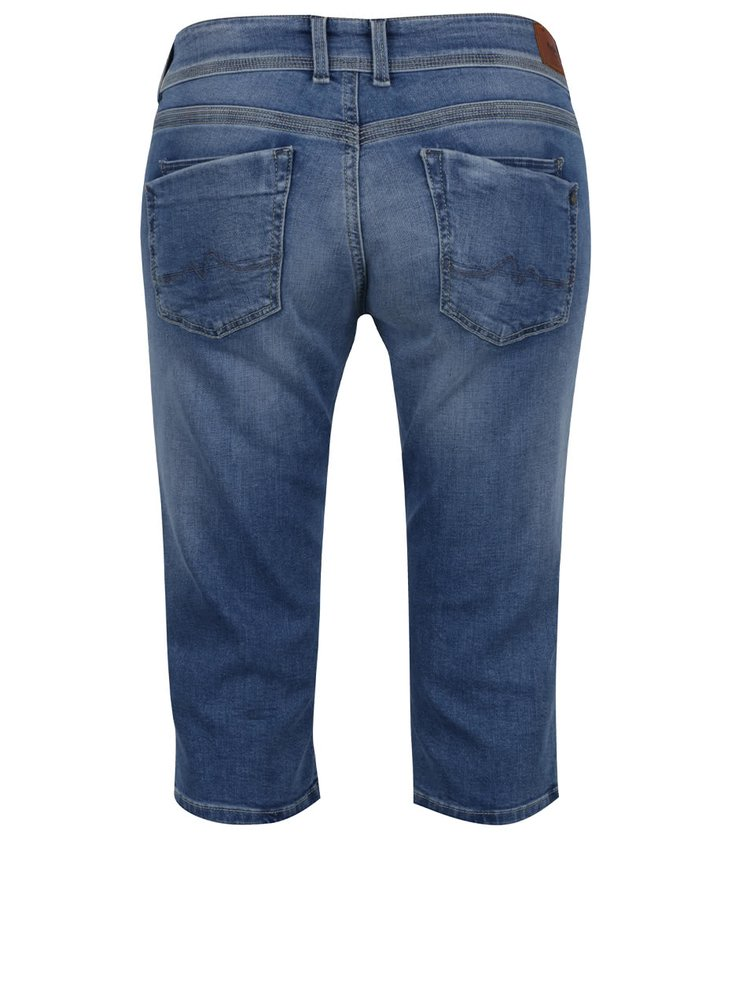 Modré dámské džínové capri kalhoty Pepe Jeans Saturn