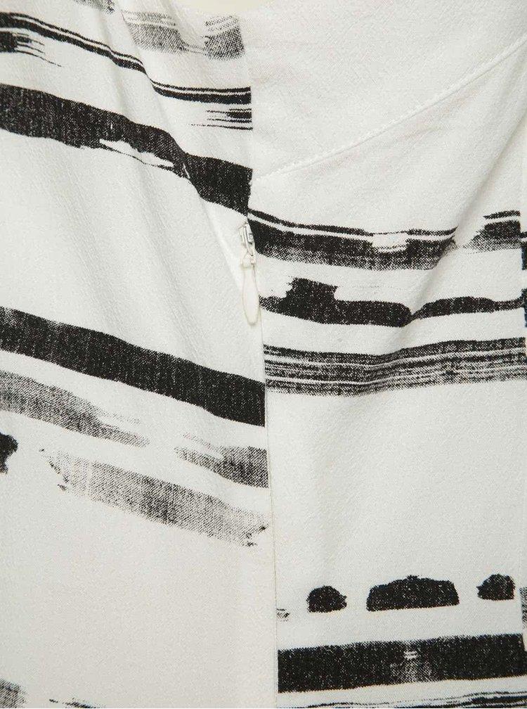 Rochie crem & negru Skunkfunk cu model în dungi