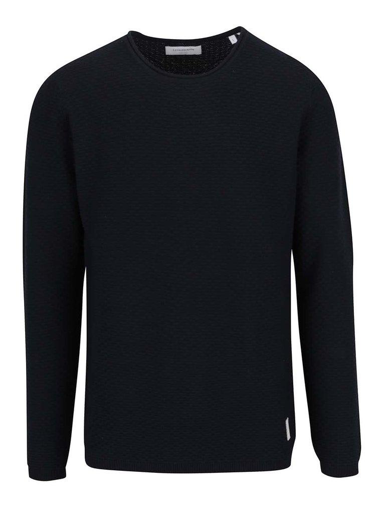 Tmavě modrý svetr s jemným vzorem Lindbergh