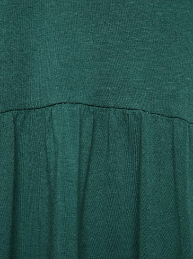 Zelené maxišaty s prodlouženým zadním dílem a ombré efektem Skunkfunk