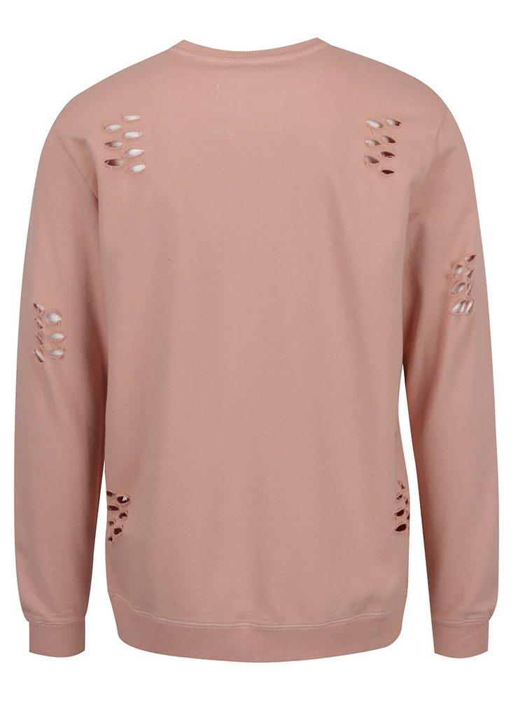 Bluza sport roz prafuit ONLY & SONS Hole