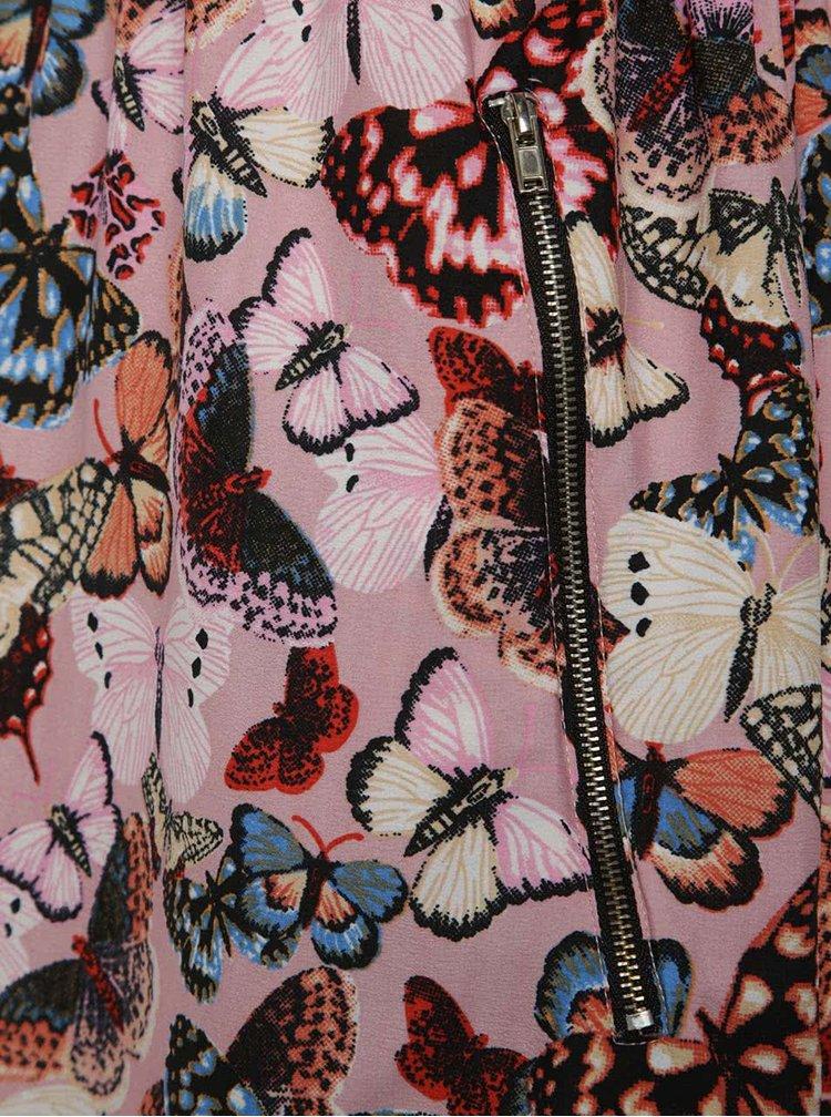 Růžové  vzorované šaty Mela London