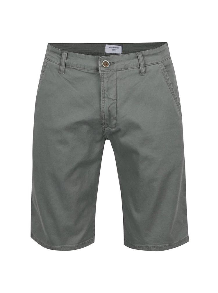 Pantaloni scurți chino verde camuflaj Lindbergh