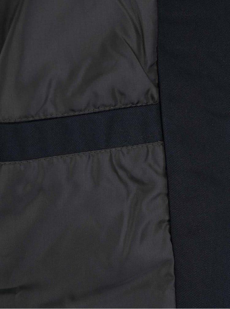 Jachetă bomber albastru închis Lindbergh cu buzunar interior
