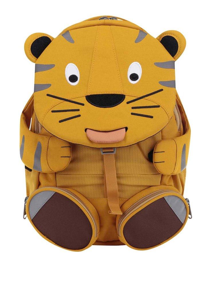 Rucsac galben Affenzahn în formă de tigru