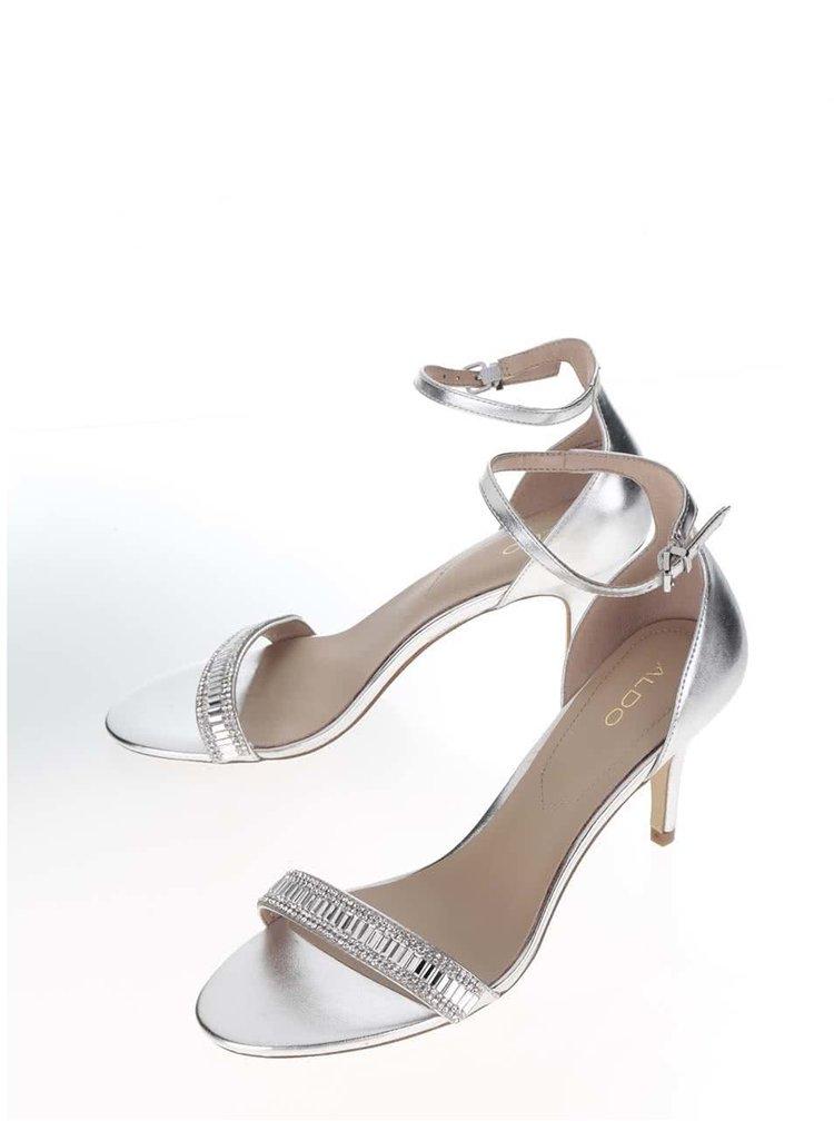Sandale argintii ALDO Kaylla cu catarama