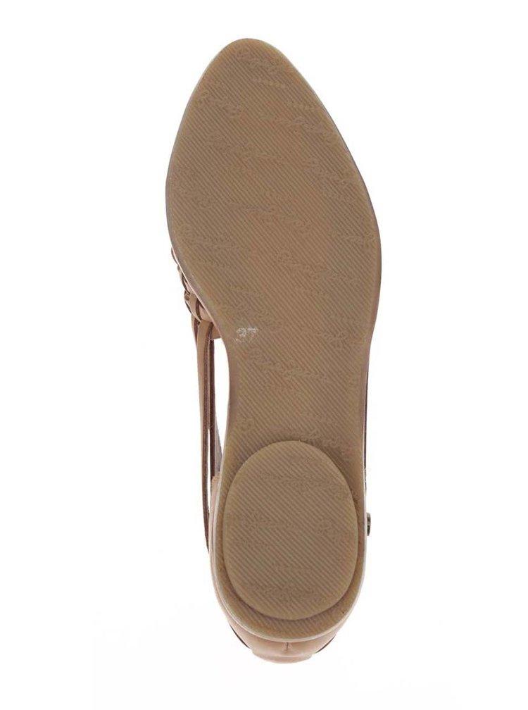Pantofi loafer maro Pepe Jeans Melrose din piele