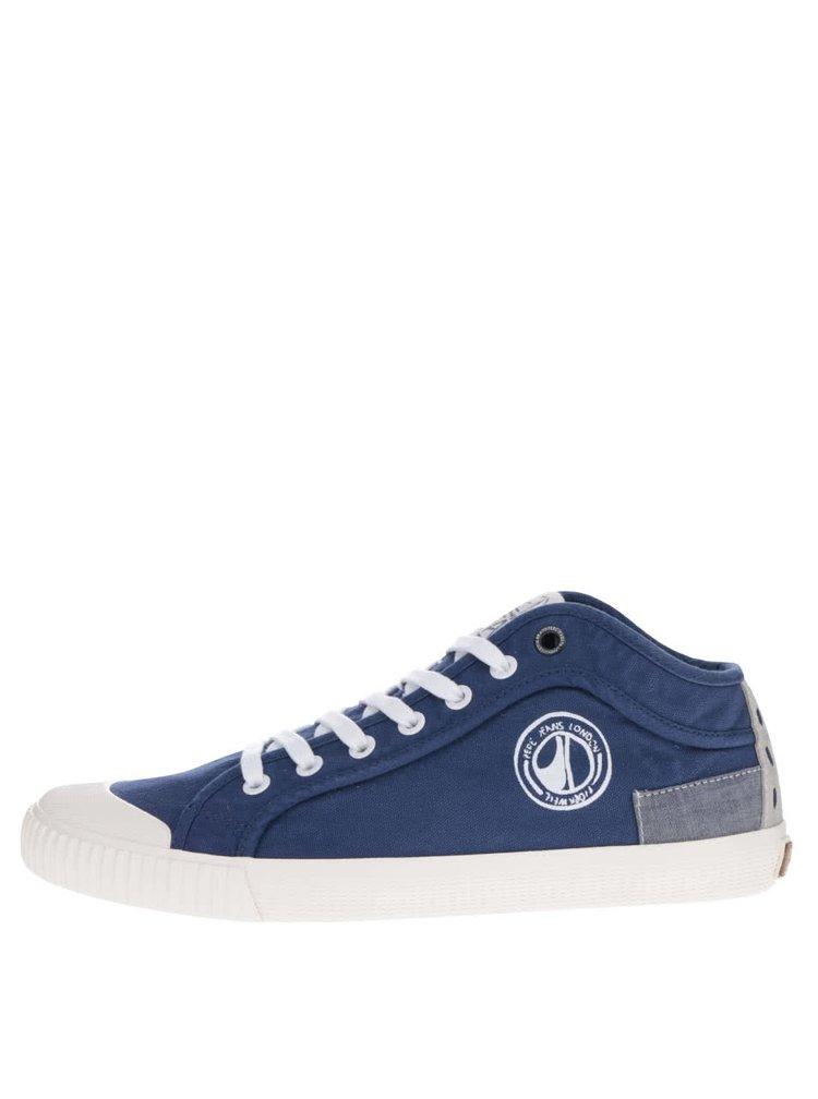 Pantofi sport albaștri Pepe Jeans Industry Tenugui cu model discret
