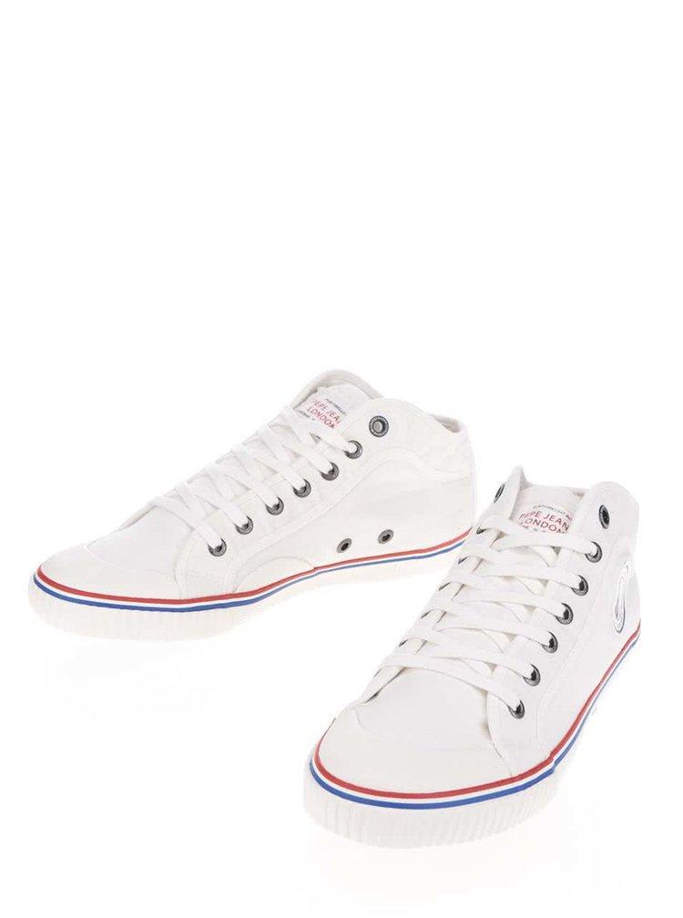Pantofi sport albi Pepe Jeans Industry Road cu model discret