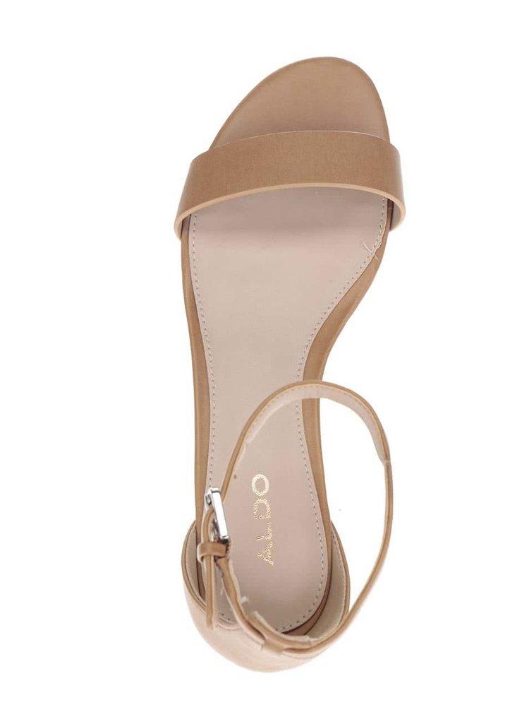 Hnědé dámské sandály ALDO Kerina