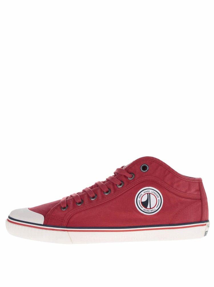 Pantofi sport roșii Pepe Jeans Industry Road cu model discret