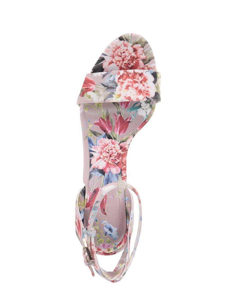 Růžové květované sandálky ALDO Miyaa
