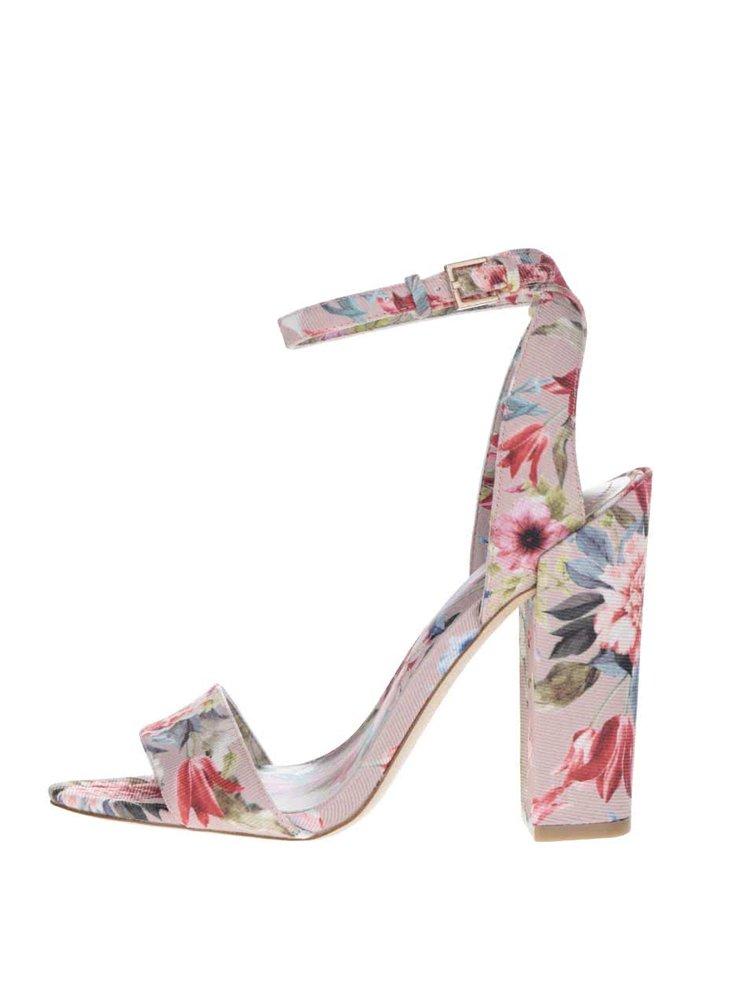 Sandale roz ALDO Miyaa cu model floral