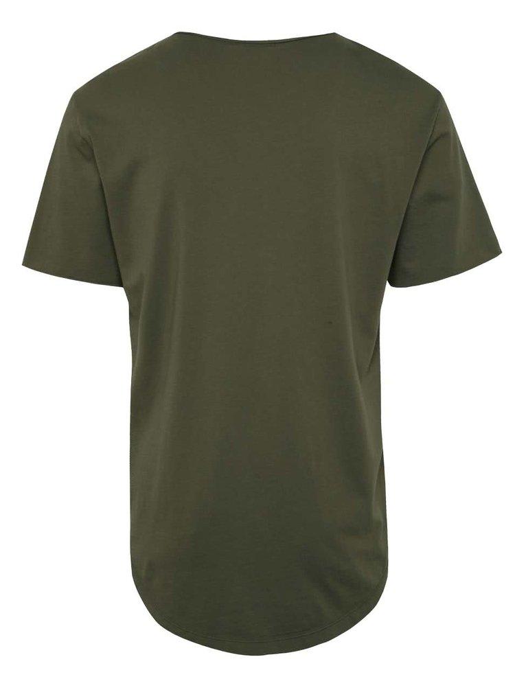 Zelené basic tričko s krátkým rukávem ONLY & SONS Mahu