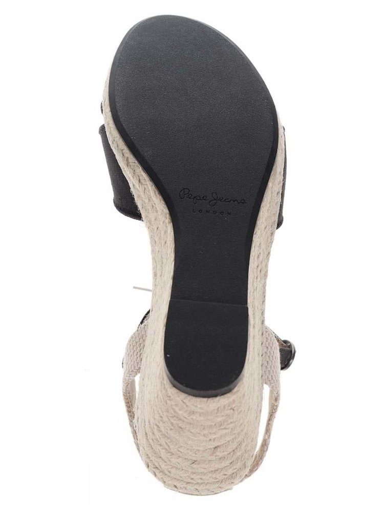 Sandale negre Pepe Jeans  Shark Basic cu platforma
