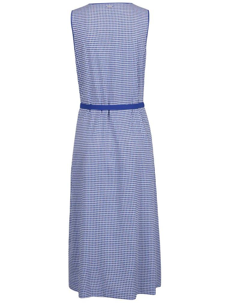 Krémovo-modré vzorované midišaty s páskem Nautica