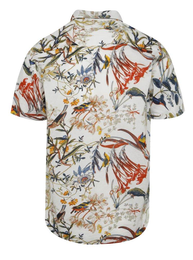 Bílá vzorovaná košile ONLY & SONS Cornelius