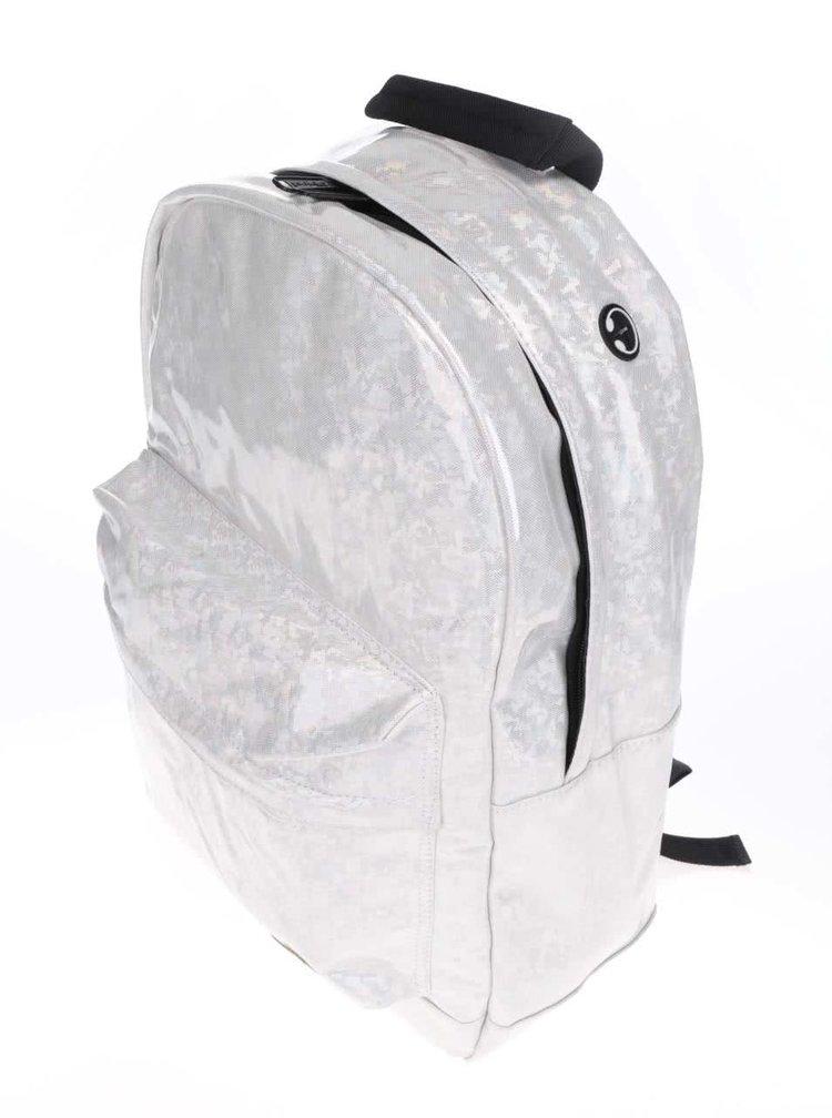 Krémový dámský holografický batoh Spiral White Diamond 18 l